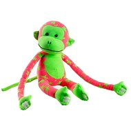 Affe, im dunklen leuchtend, Pink/Grün - Plüschspielzeug