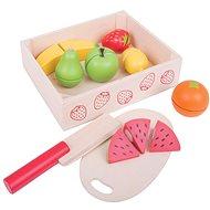 Bigjigs Früchte in einer Kiste schneiden - Spielset