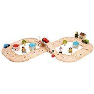 Bigjigs Holz-Kinder-Autobahn Acht - Spielzeug-Autobahn