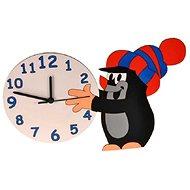 Dodo Holzuhr Der kleine Maulwurf mit Schneeball für Kinder - Uhr fürs Kinderzimmer