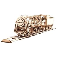 Ugears 3D Mechanische Dampflokomotive mit Tender - Baukasten