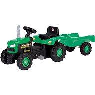 Trettraktor DOLU Trettraktor mit Anhänger - grün - Šlapací traktor