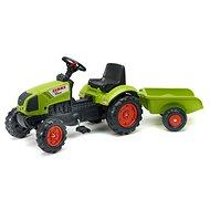Trettraktor FALK Claas Arion 410 Spielzeugset Trettraktor mit Anhänger - Grün - Šlapací traktor