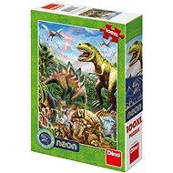 Welt der Dinosaurier - Neon - Puzzle