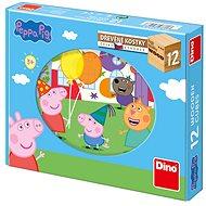 Peppa Pig - 12 Holzwürfel - Bild-Würfel