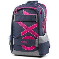 OXY Sport Blue Line Pink - Schulrucksack