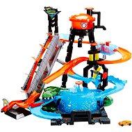 Hot Wheels City Ultimative Waschanlage mit Alligator - Autobahn für Kinder