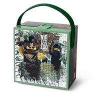 LEGO Ninjago Brotbox mit einem Handgriff - Armee grün - Snack-Box