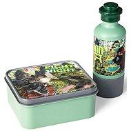 LEGO Ninjago Lunch-Set (Brotdose mit 350ml Trinkflasche) - Khaki - Snack-Box