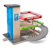 Woody Garage mit Aufzug und Zubehör - Holz/Kunststoff - Garage