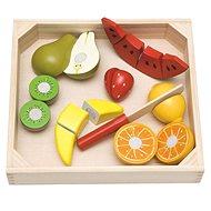 Didaktisches Spielzeug Woody Gemüse auf einem Schneidebrett - Frucht mit Melone - Didaktická hračka