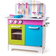 Woody Kinderküche Julia, gestreift - Kinderküche