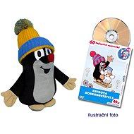 Der kleine Maulwurf 25 cm blau-belbe Bommelmütze + DVD - Plüschspielzeug
