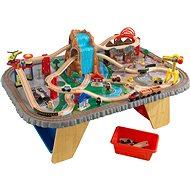 Kid Kraft Eisenbahn mit Tisch, Wasserfall - Modelleisenbahn
