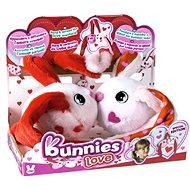 Bunnies Love Häschen mit Magneten - Set 2 Stk - Plüschtier