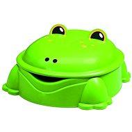 Grüner Frosch mit Abdeckung - Sandkasten