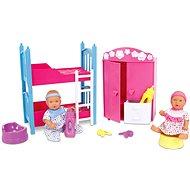 Simba New Born Baby Kinderzimmer + 2 Puppen (trinkt+näßt) - Puppen-Set