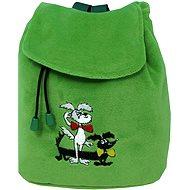 Kinder Rucksack Staflík und Spagetka - mit auffälliger Stickerei in grün - Rucksack