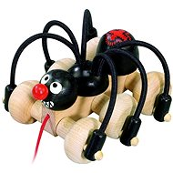 Detoa Nachziehtier - Schwarze Spinne - Nachziehspielzeug
