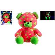 Teddies Teddybär, der im dunklen rosa-grün glüht - Plüschspielzeug