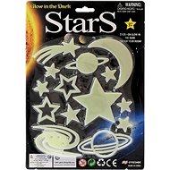Sterne, im Dunkeln leuchtend, 3 Arten auf einer Karte - Aufkleber