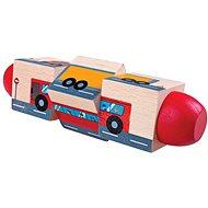 Bigjigs Toys beweglicher Zylinder Transport - Motorisches Spielzeug