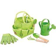 Bigjigs Toys Gartengeräte-Set in Segeltuchtasche - grün - Kinderwerkzeug
