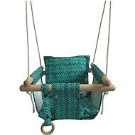 Textilschaukel für Kinder 100% Baumwolle Türkis - Schaukel