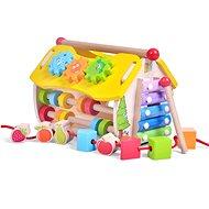 Holzspielzeug Lern-Haus aus Holz - zum Lernen der Uhr