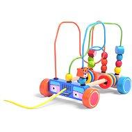 Holzspielzeug Holzauto mit Perlenlabyrinth - Dřevěná hračka