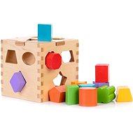 Holzspielzeug Pädagogischer Spielzeugwürfel aus Holz zum Einfügen von Formen - Dřevěná hračka