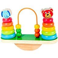 Holzspielzeug Ausgleichspyramide aus Holz mit Perlen - Dřevěná hračka