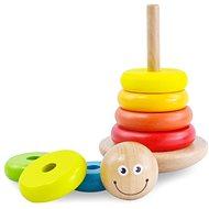 Holzspielzeug Bunte Pyramide aus Holz - Dřevěná hračka