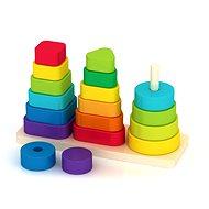 Holzpyramide mit unterschiedlicher Motiven - Holzspielzeug