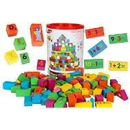 Holzwürfel Set mit farbigen Holzwürfeln - 100 Stück