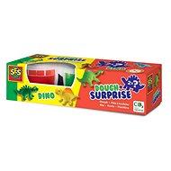 SES Dough+Surprise - Knetmasse mit Überraschungsfigur - Dinosaurier - Knetmasse
