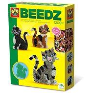 SES BEEDZ Bügelperlen - Katzen - 1200 Stück - Perlen zum Aufbügeln