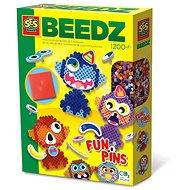 SES BEEDZ - Bügelperlen - Lustige Tiere - 1200 Stück - Perlen zum Aufbügeln