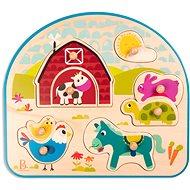 B-Toys Holzpuzzle mit Bauerngriffen - Puzzle