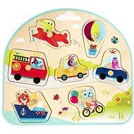 B-Toys Holzpuzzle mit Griffen Fahrzeuge - Puzzle
