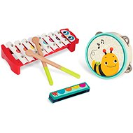 B-Toys Mini Melody Band - Musikinstrumente aus Holz - Musikspielzeug