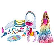 Mattel Barbie - Dreamtopia - Prinzessin und Regenbogen-Einhorn Spielset - Puppe