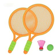 Set of rackets with basket and ball; 39x23,5x3,5cm - Badminton Set