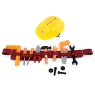 Werkzeugset mit Helm und Werkzeuggürtel - 17 cm x 9 cm x 60 cm - Kinderwerkzeug