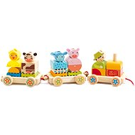 Farm train - Push and Pull Toy
