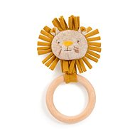 Rattling Lion Cub with Wooden Ring - Baby Rattle