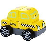 CUBIKA 13159 Taxi Car - Wooden Puzzle 5 pieces - Puzzle