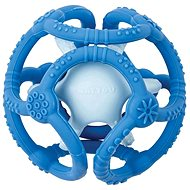 Nattou Silicone Bite Ball 2-in-1 BPA-free 10cm Blue - Baby Teether
