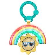 Bright Starts Rainbow Spielzeug zum Aufhängen mit C-ring - Musik und Lichteffekt - ab 3 Monaten - Hängendes Spielzeug