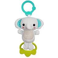 Bright Starts Tug Tunes Elefant - Spielzeug mit Melodie zum Aufhängen mit C-Ring - 0 m+ - Hängendes Spielzeug